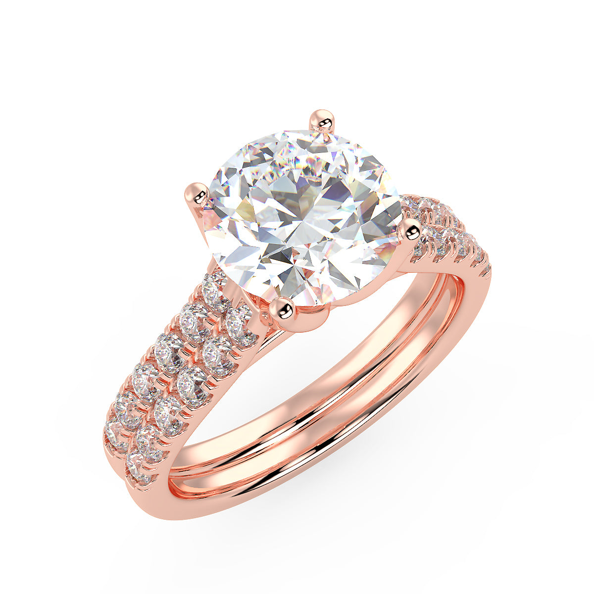 Bright Altair Engagement Ring in Rose Gold