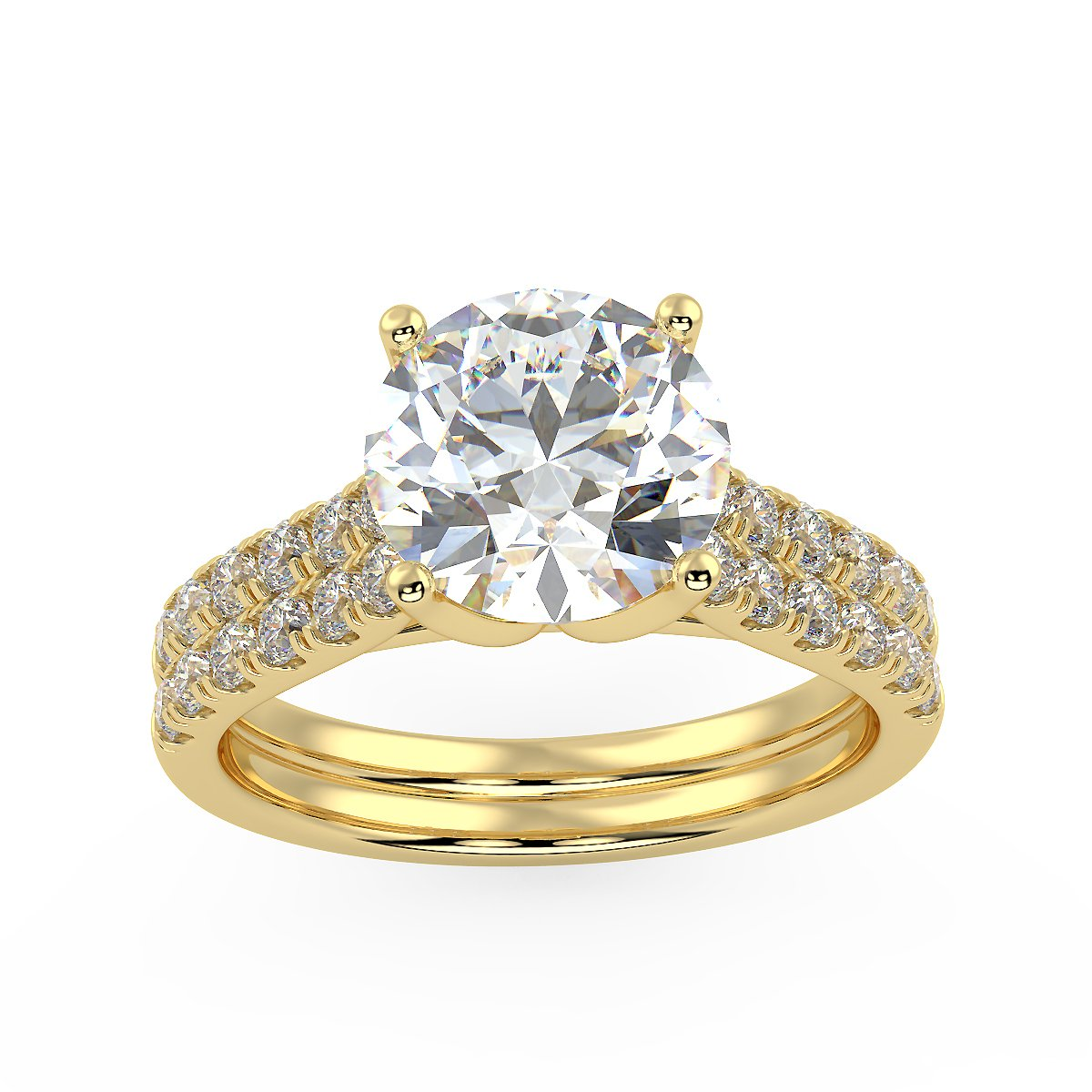 Bright Altair Engagement Ring in Yellow Gold