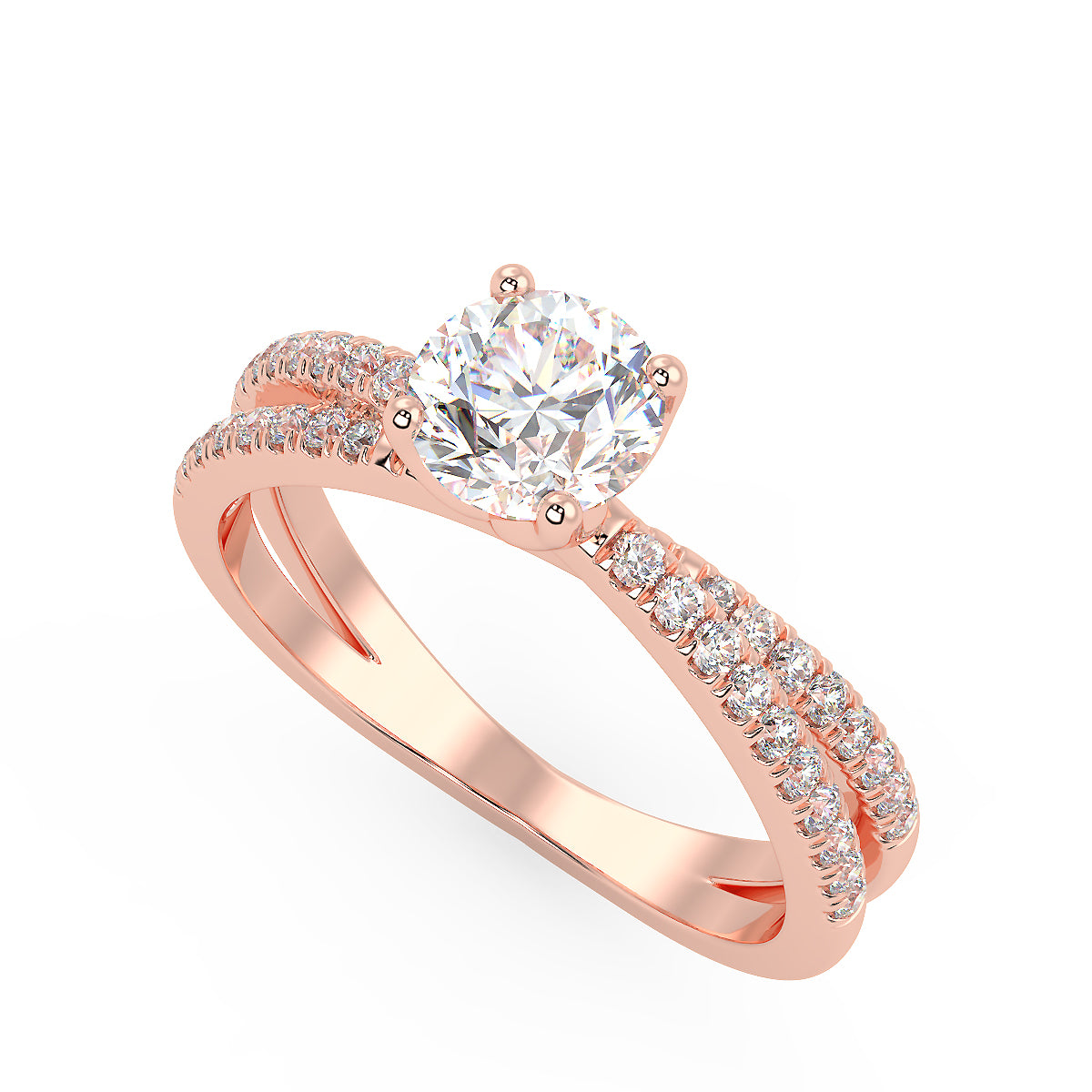 Capella Engagement Ring in Rose Gold