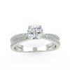 Capella Engagement Ring in White Gold