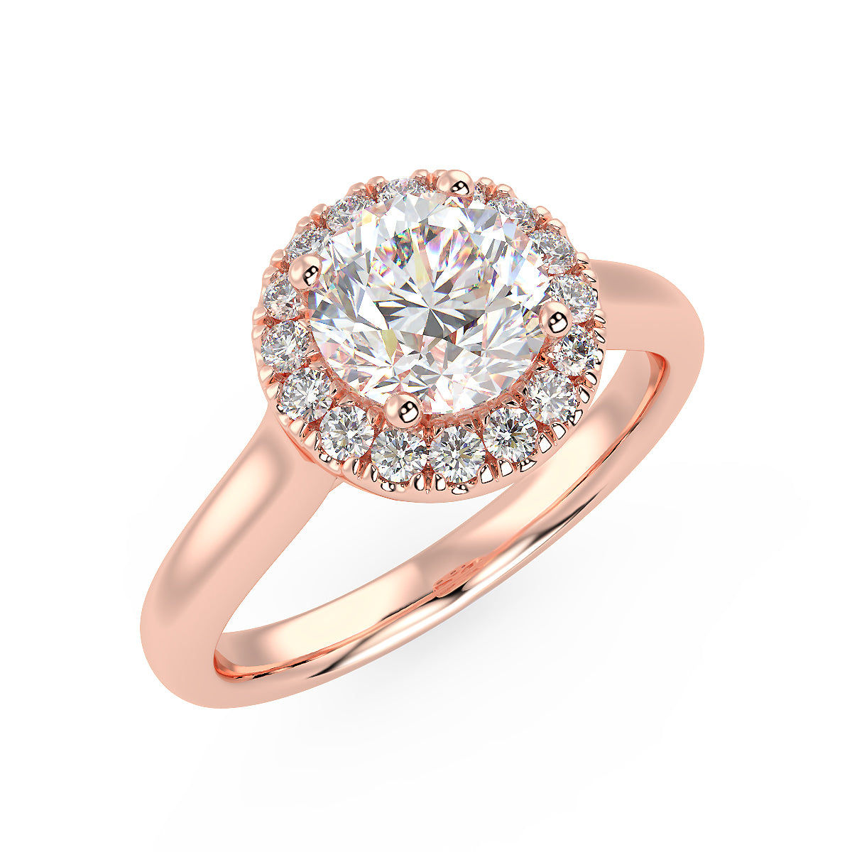 Rigel Engagement Ring in Rose Gold