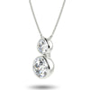 Vega Duo Necklace - White Gold (2.00 Ct. Tw.)
