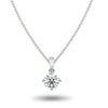Sirius Solitaire Necklace in White Gold