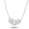 Centauri Trilogy Necklace in White Gold