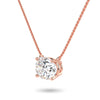 Sirius Oval Necklace in Rose Gold