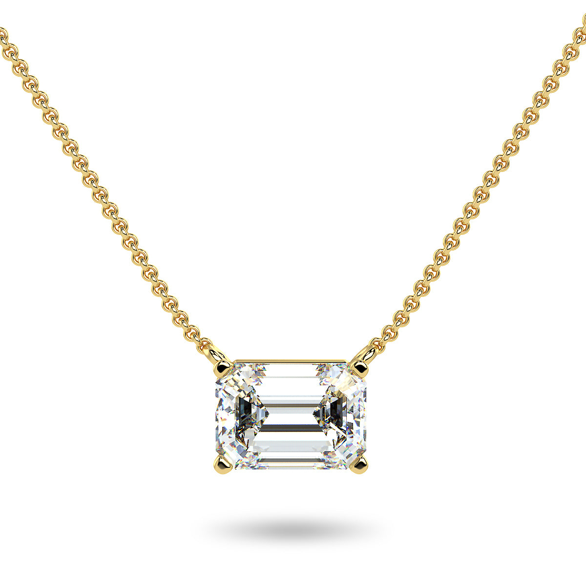 Sirius Emerald Necklace - Yellow Gold (0.33 - 2.00 Ct. Tw.)