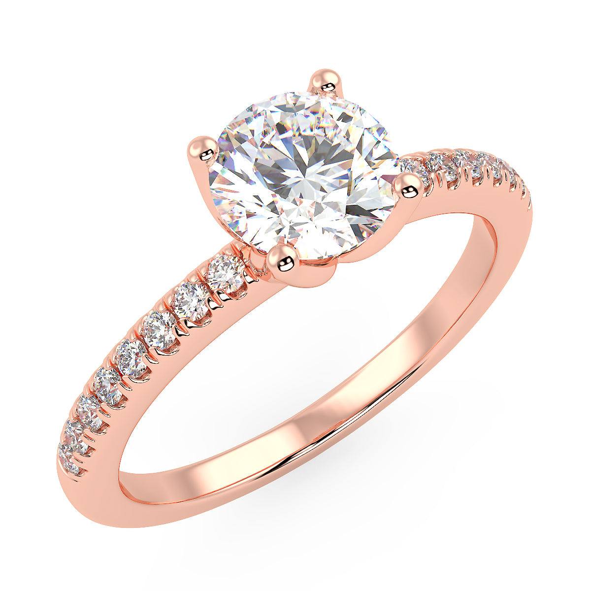 Altair Engagement Ring in Rose Gold