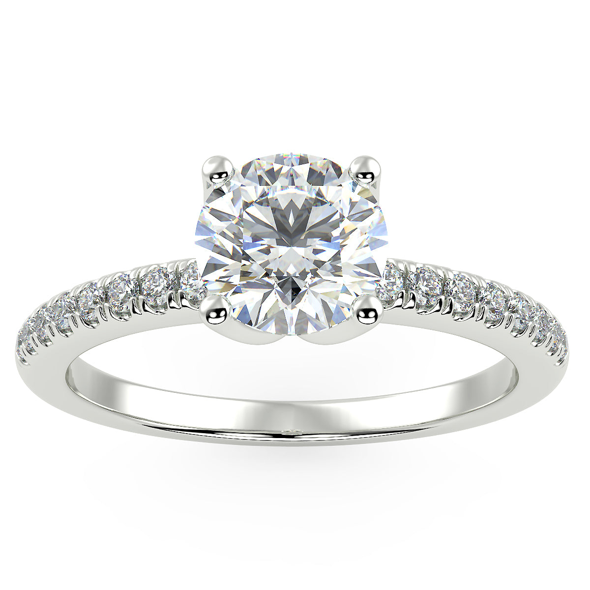 Altair Engagement Ring in White Gold