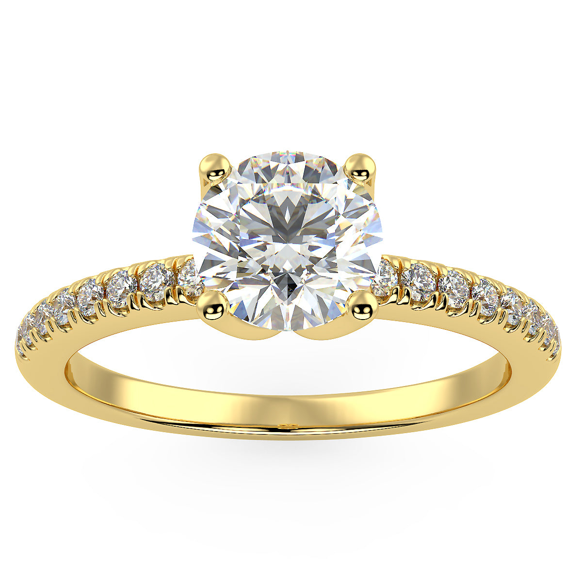 Altair Engagement Ring in Yellow Gold