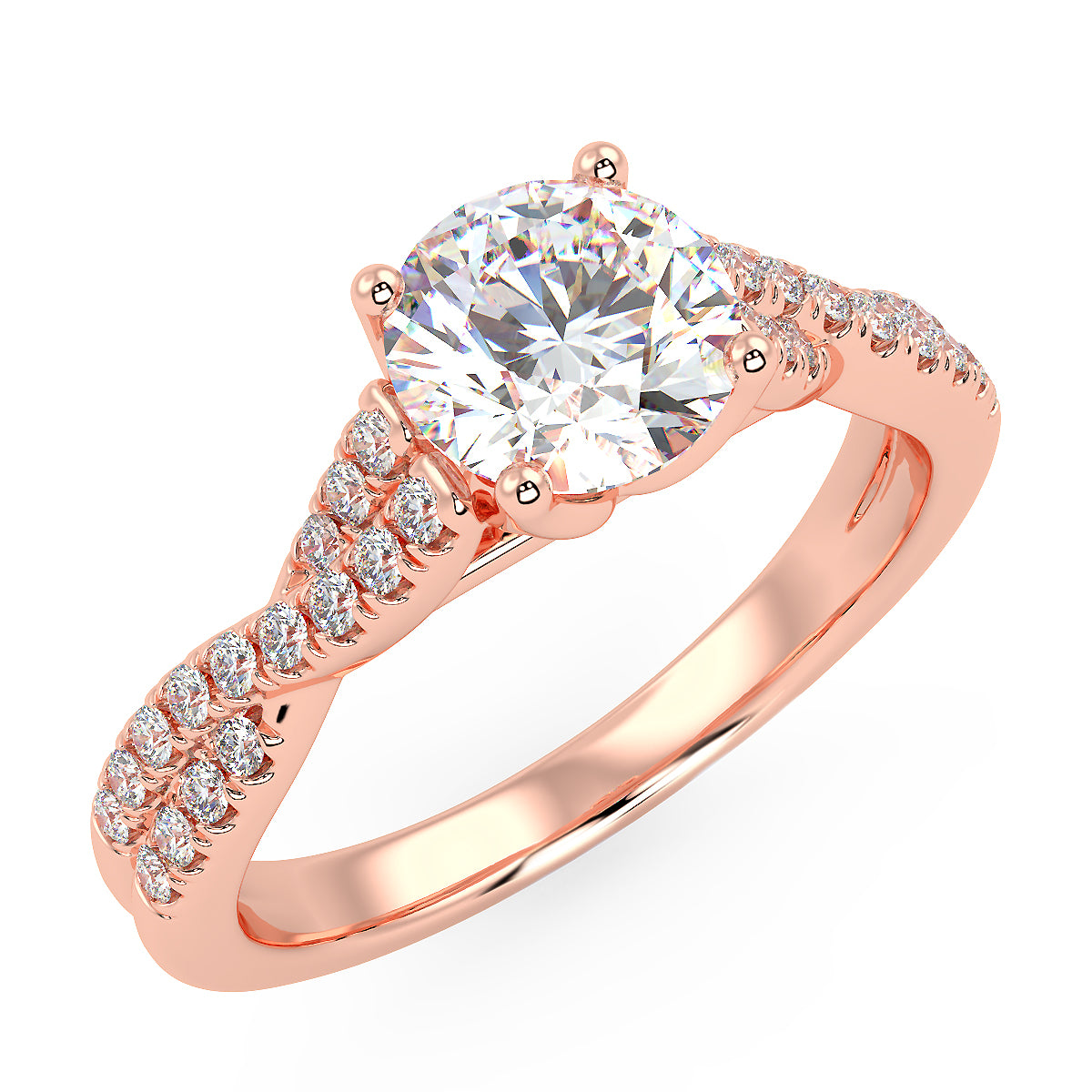Nebula Engagement Ring in Rose Gold