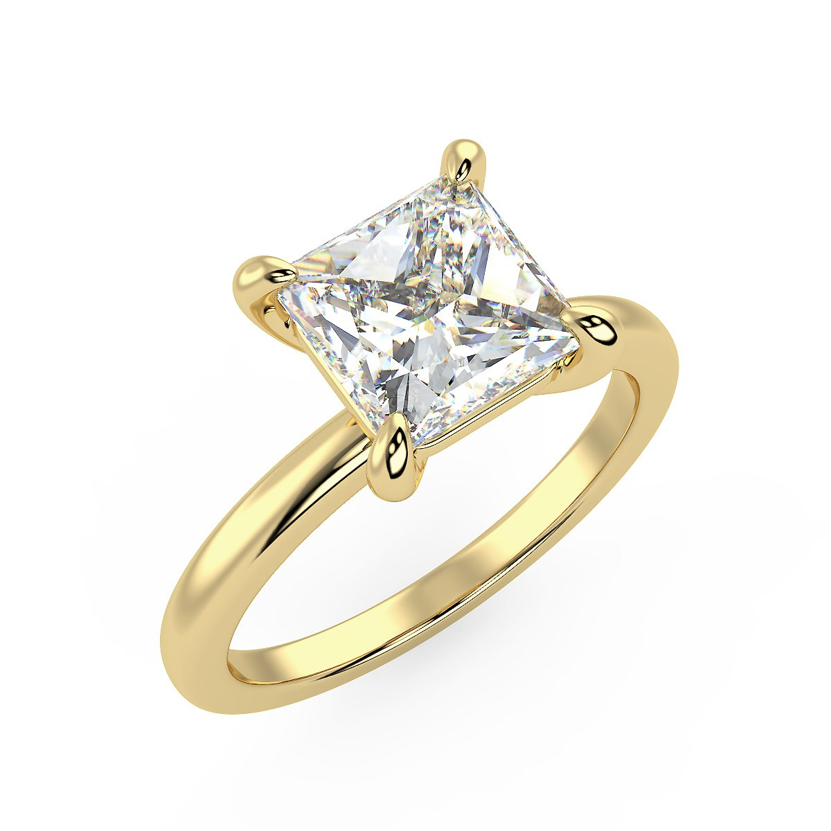 Sirius Princess Engagement Ring in Yellow Gold