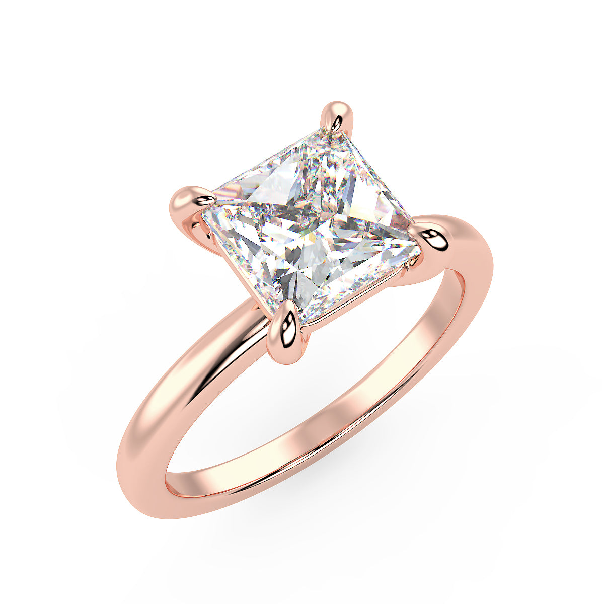 Sirius Princess Engagement Ring in Rose Gold