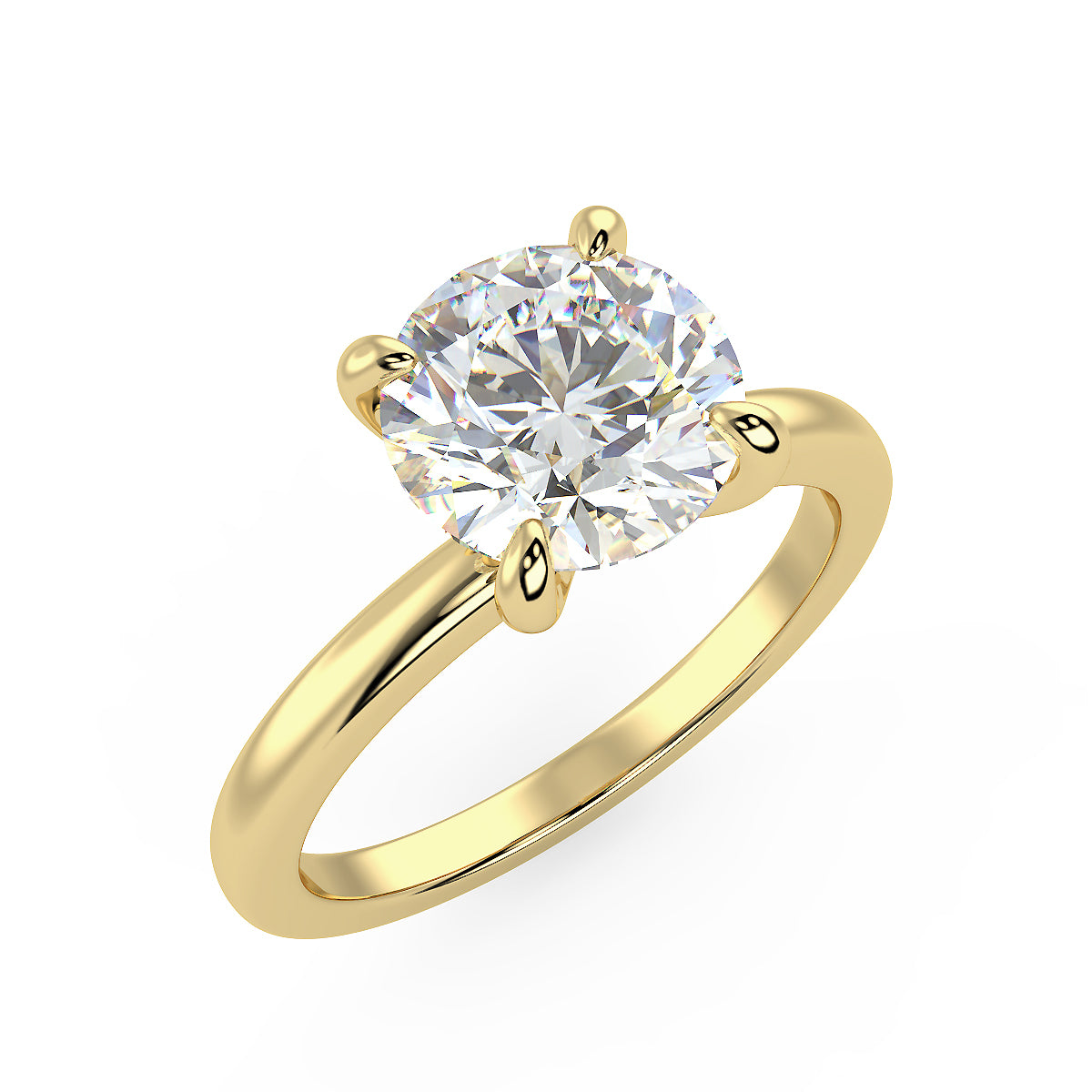 Sirius Engagement Ring in Yellow Gold