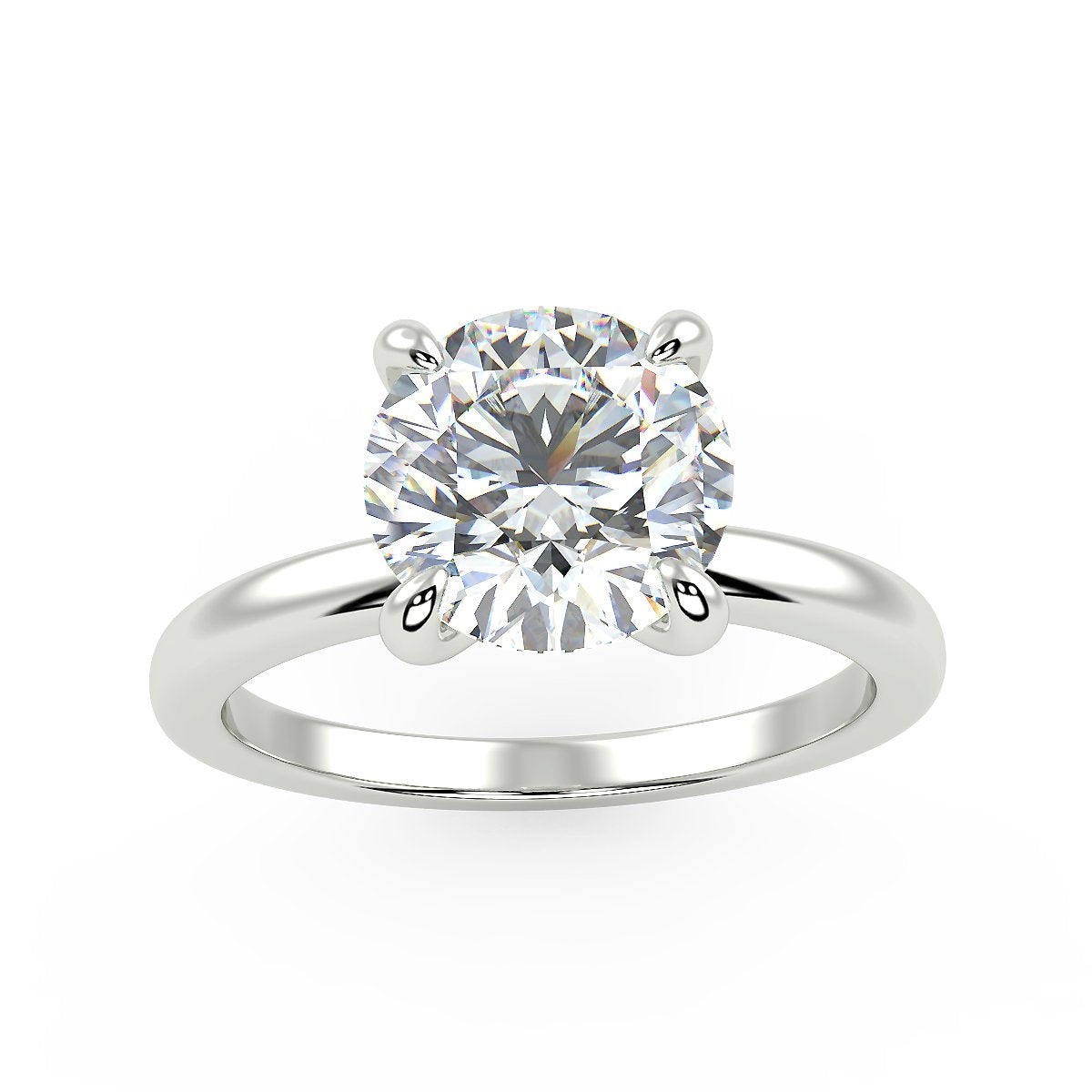 Sirius Engagement Ring in White Gold