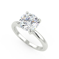 Galaxy's Edge Solitaire Ring in White Gold