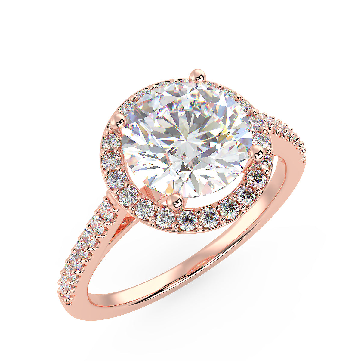 Carina Engagement Ring in Rose Gold