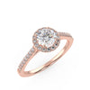 Polaris Engagement Ring in Rose Gold