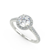 Polaris Engagement Ring in White Gold