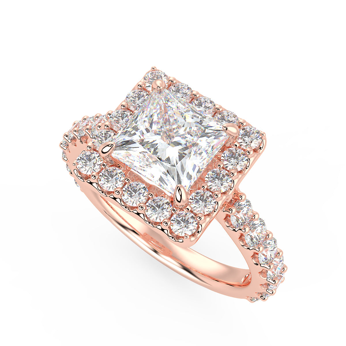 Pegasus Engagement Ring in Rose Gold