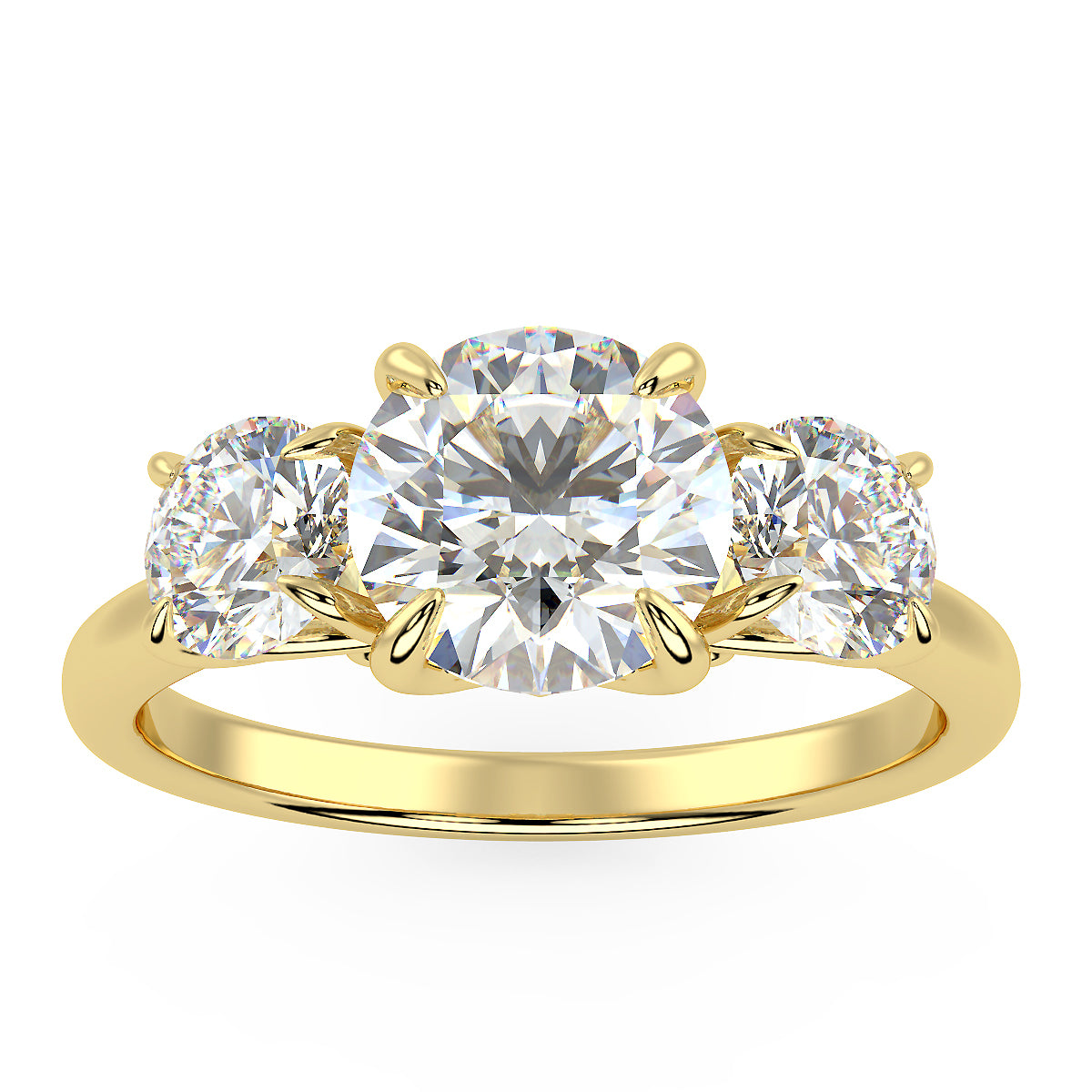 Centauri Three-Stone Ring in Yellow Gold