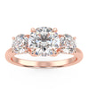 Centauri Three-Stone Ring in Rose Gold