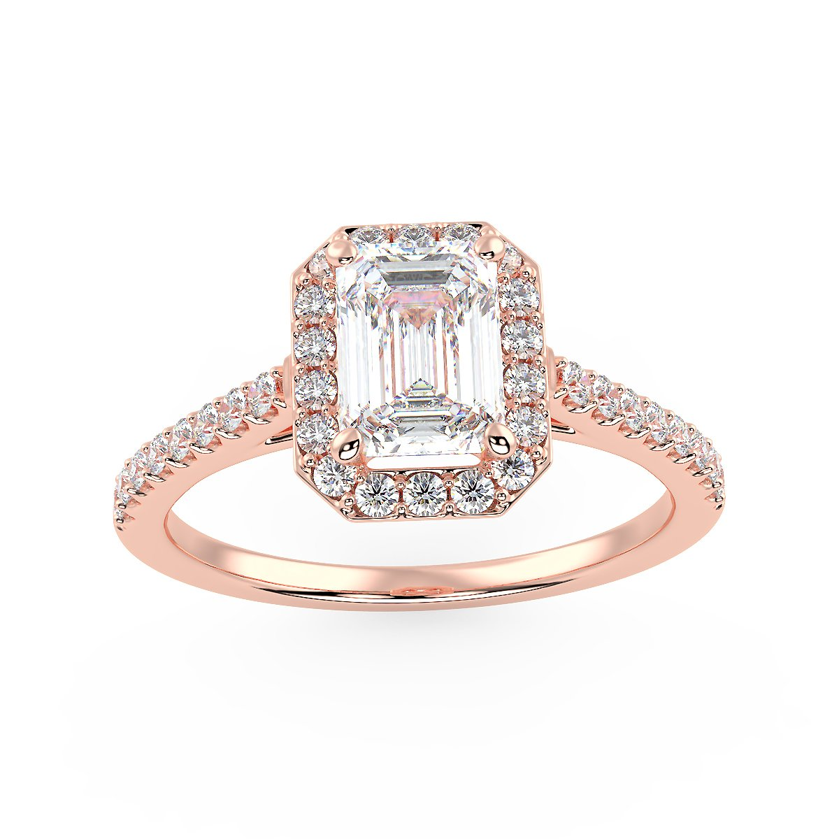 Neptune Engagement Ring in Rose Gold