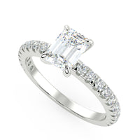 Europa Engagement Ring in White Gold