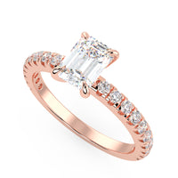 Europa Engagement Ring in Rose Gold
