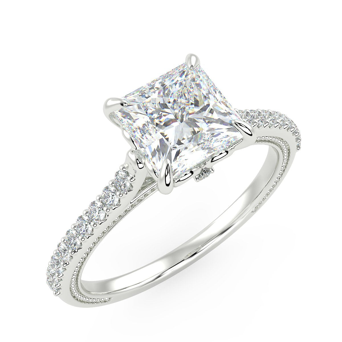 Lyra Engagement Ring in White Gold