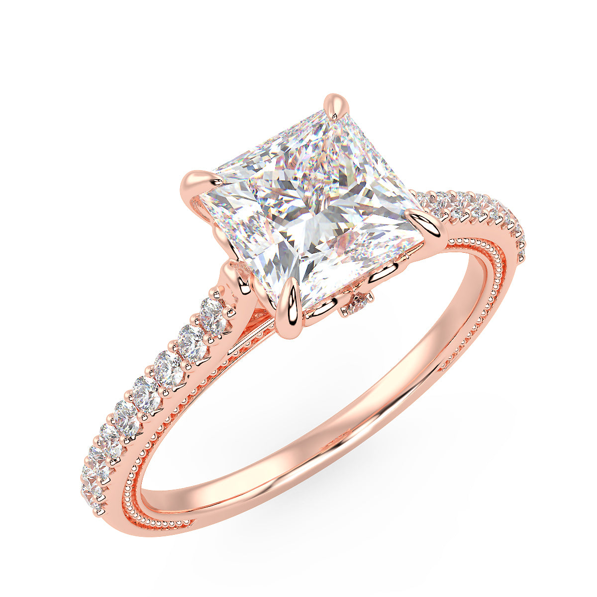Lyra Engagement Ring in Rose Gold