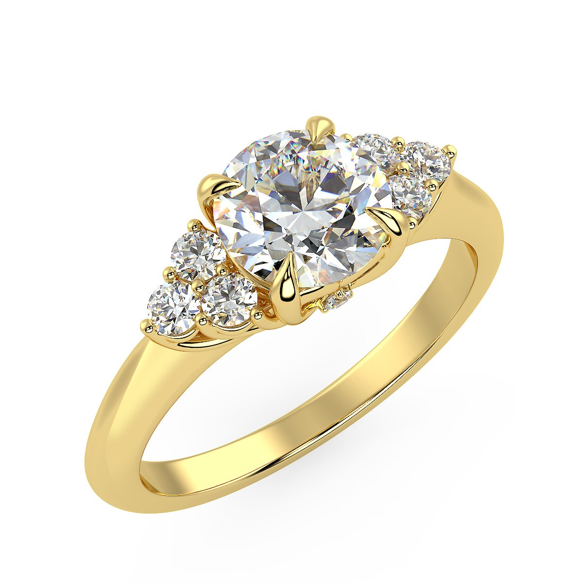 Zania Engagement Ring in Yellow Gold