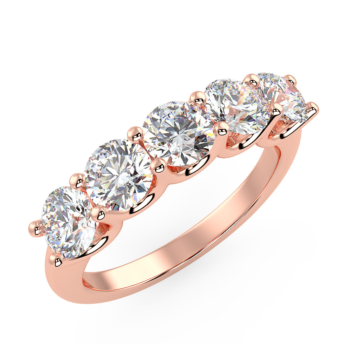 Asteroid Band in Rose Gold (1.80 Ct. Tw.)