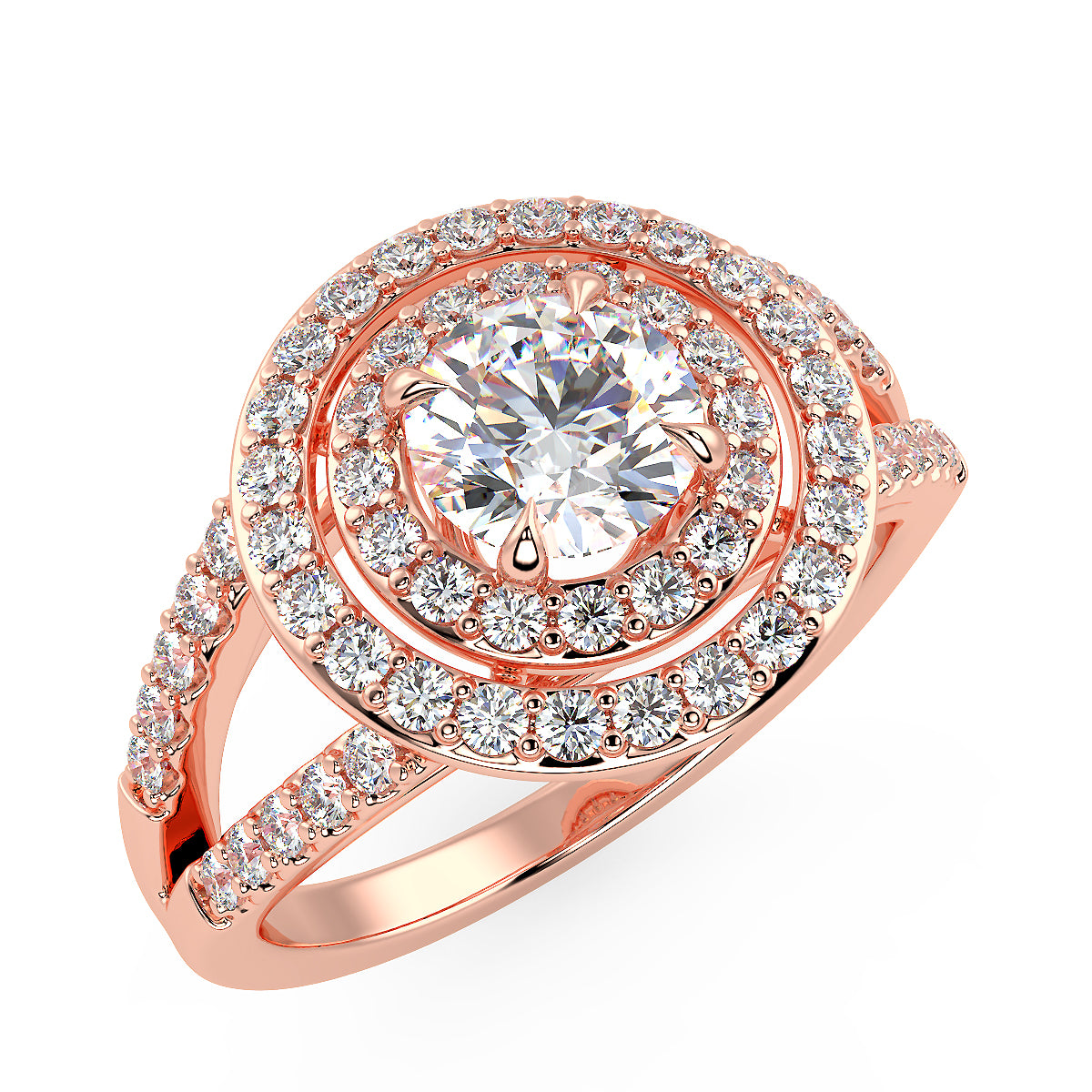 Galaxy Engagement Ring in Rose Gold