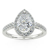 Pavo Engagement Ring in White Gold