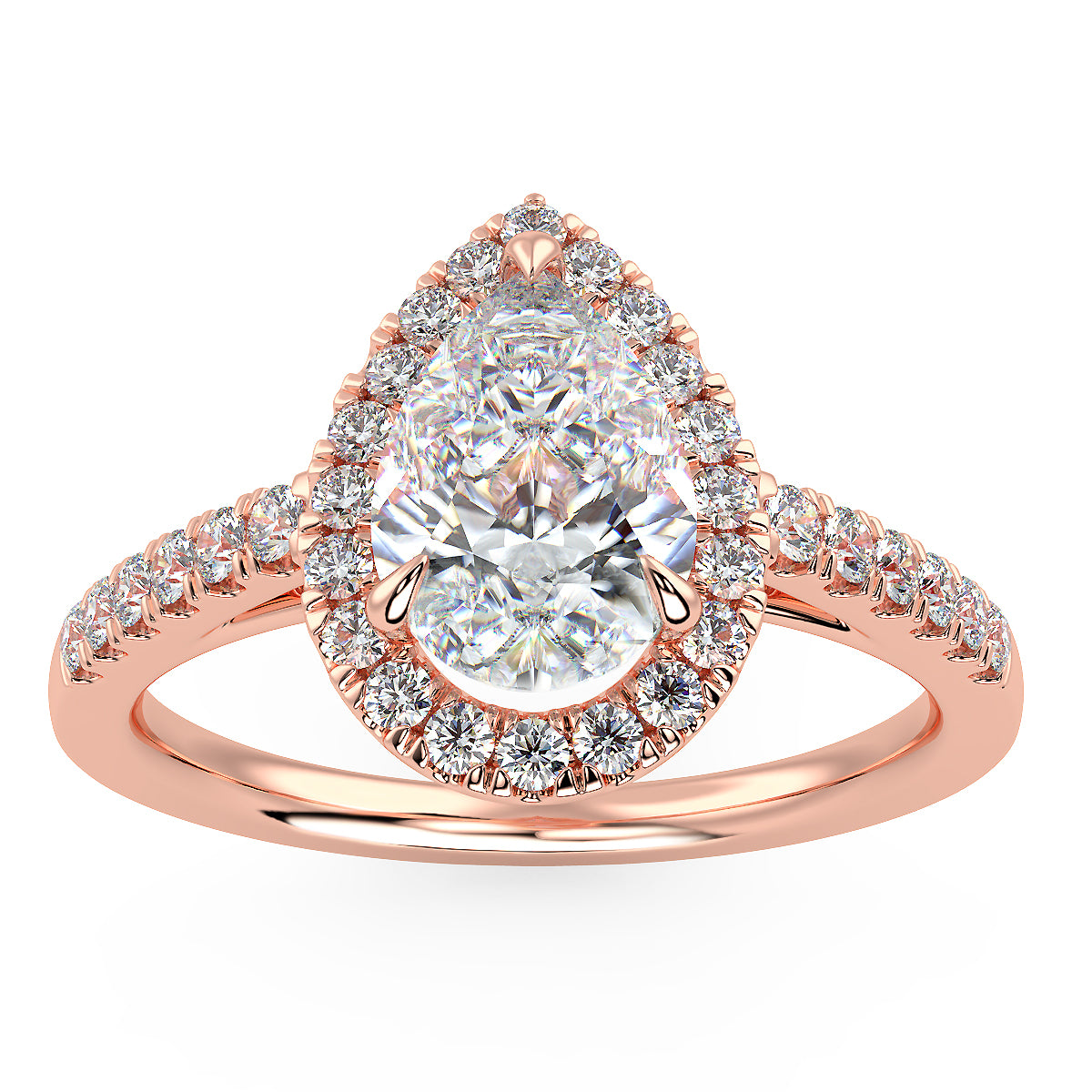 Pavo Engagement Ring in Rose Gold