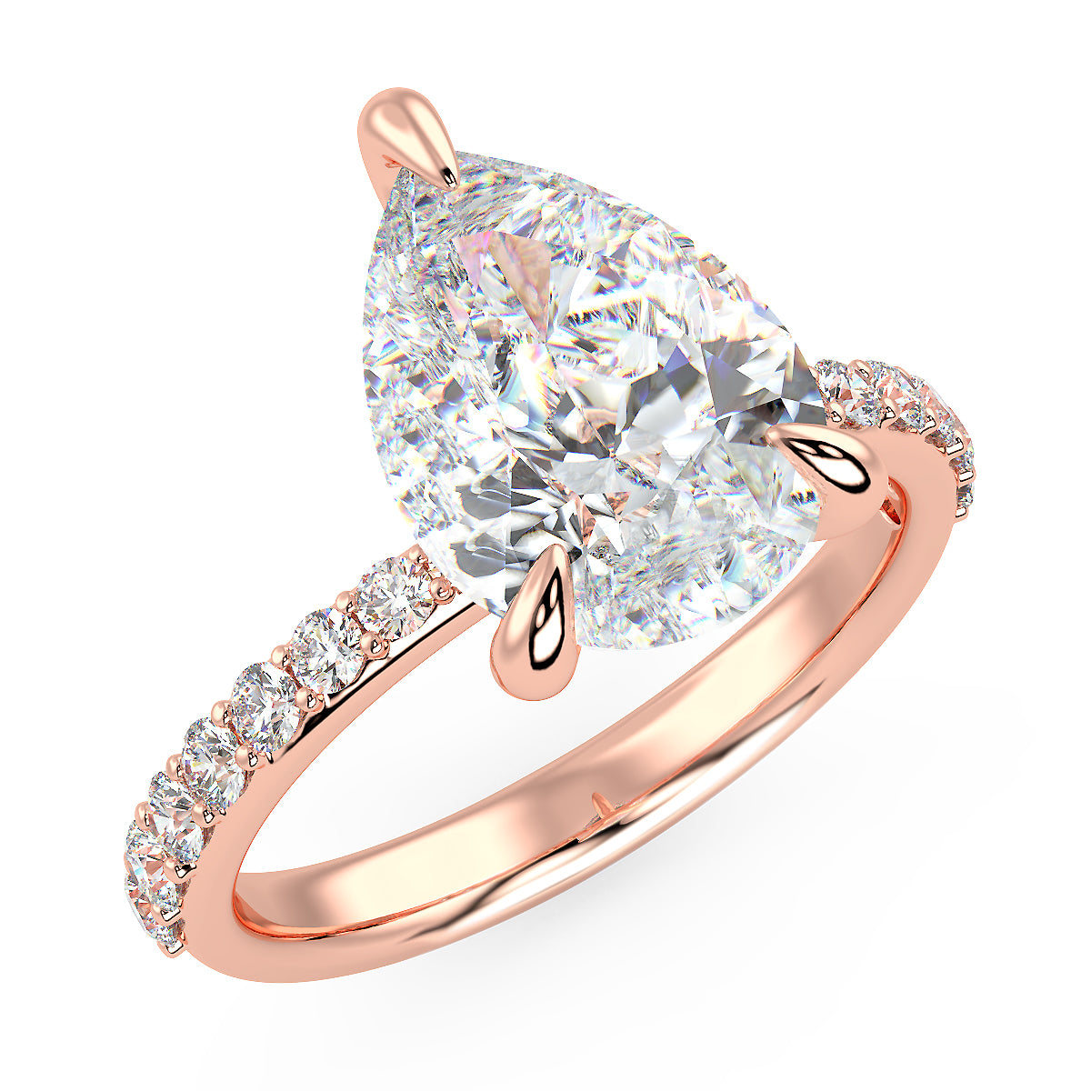 Meteor Engagement Ring in Rose Gold