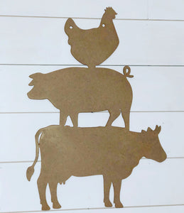 Cow Pig Chicken Wall Decor