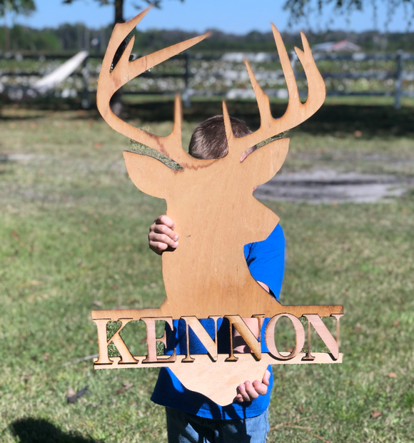 Boys Personalized Deer Room Decor