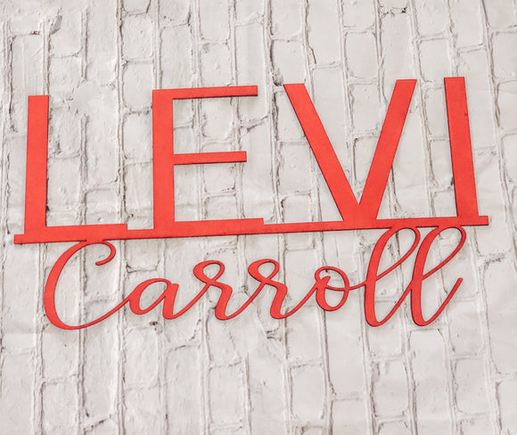 Personalized Double Name Wall Decor