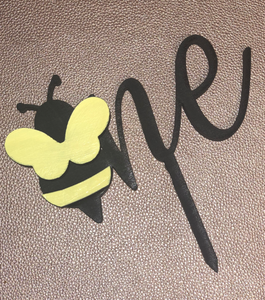 Bee Birthday Cake Topper (any number)
