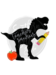 Teacher Dino Png Shirt File