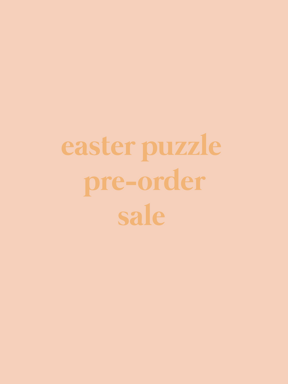 Easter Pre order Name Puzzle