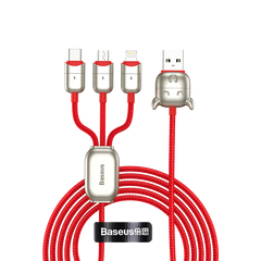 Baseus Year of the Ox One-for-three Data Cable USB to M+L+C 3.5A 1.2M