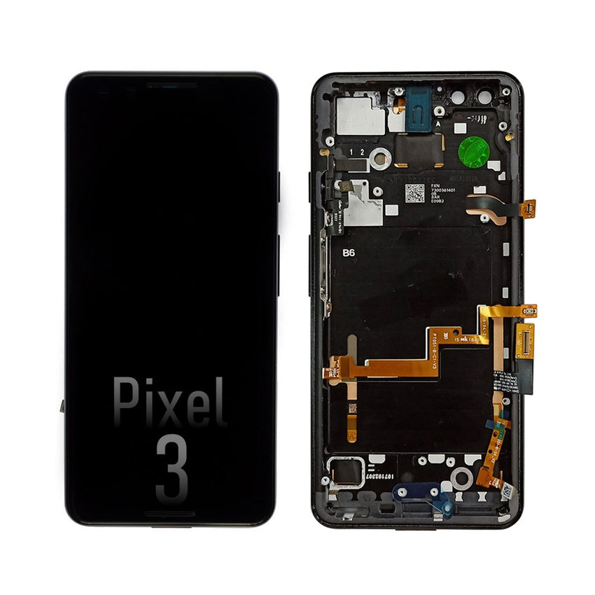 LCD Screen Digitizer Replacement with Frame for Google Pixel 3