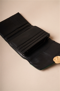 Deep Green Snake Python Three Way Wallet