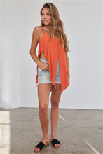 Load image into Gallery viewer, Rust Orange Wrap Waist Cami Top