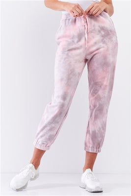 Cotton Candy Pink Tie-Dye Jogger Sweat Pants