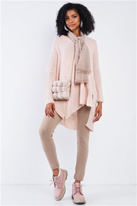 Baby Soft Pink Asymmetrical Sweater