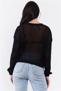 Sheer Knit Relaxed Fit Sweater