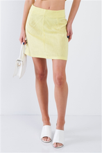 Load image into Gallery viewer, Yellow Smocked Crop Halter & Chic Mini Skirt Set